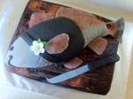 3D fish grooms cake