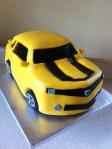 Bumblebee camaro birthday cake