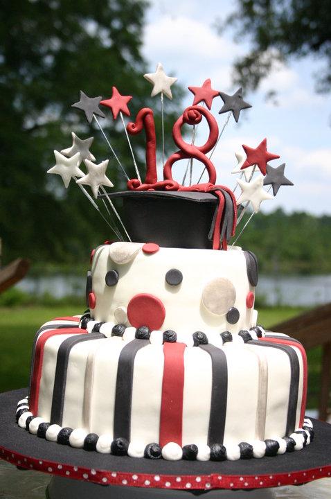 Burgandy And Black 18th Birthday Graduation Cake Lolos Cakes Sweets