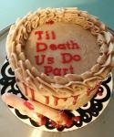 Til Death Us Do Part anniversary cake