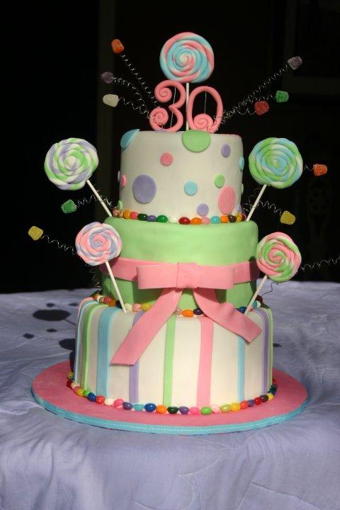 Fondant candy cake