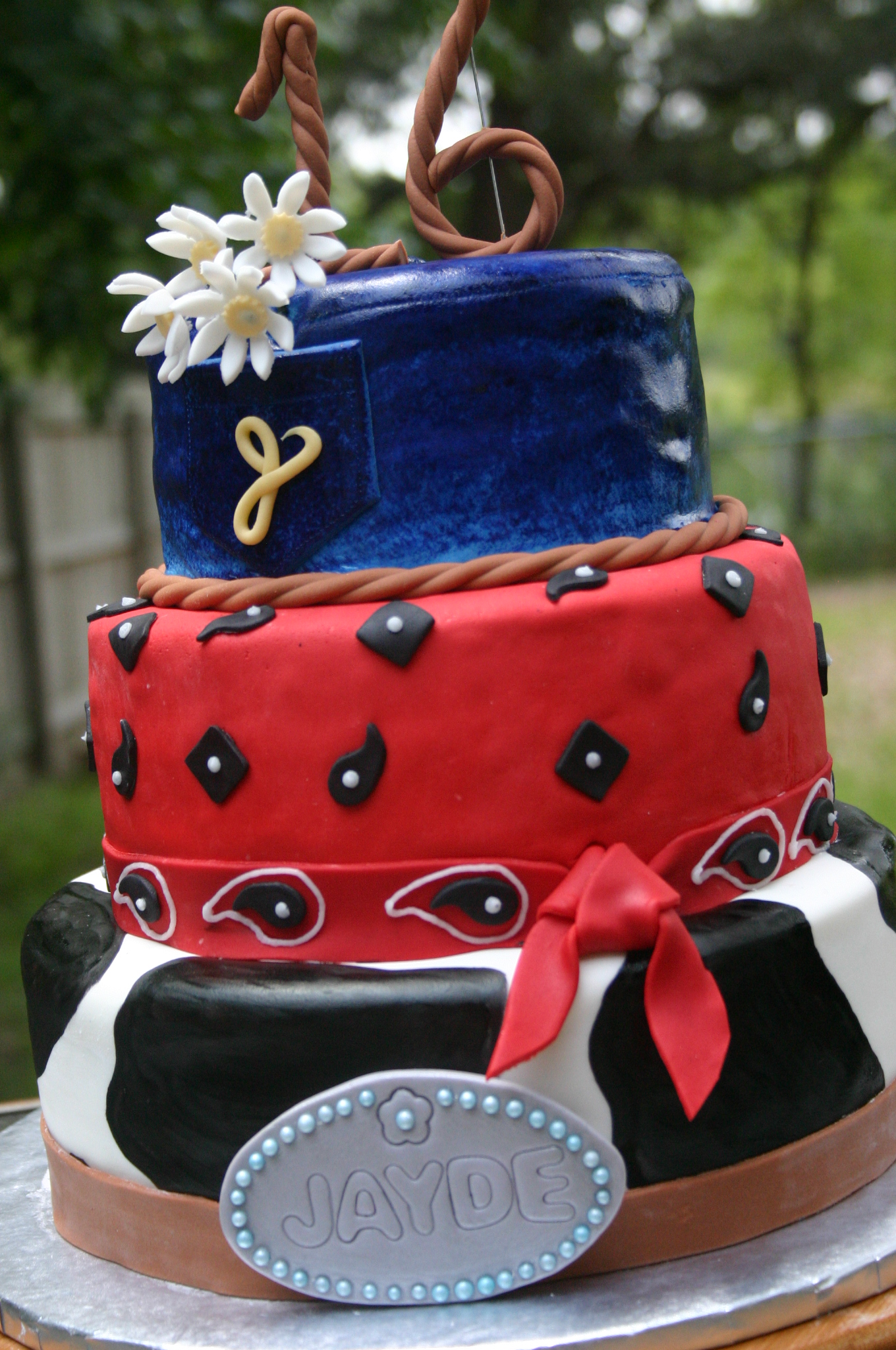 Excellent Cowgirl Western Sweet 16 Birthday Cake Lolos Cakes Sweets Funny Birthday Cards Online Barepcheapnameinfo