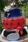 Cowgirl Western Sweet 16 birthday cake