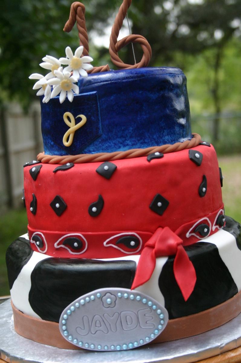 Amazing Cowgirl Western Sweet 16 Birthday Cake Lolos Cakes Sweets Funny Birthday Cards Online Alyptdamsfinfo
