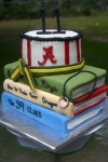 Custom Alabama Tae Kwon Do books birthday cake