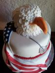 4th of July eagle with edible dog tags