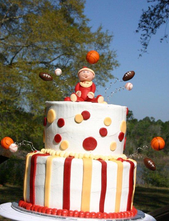 FSU sports baby shower cake