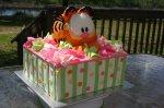 Garfield in box birthday cake