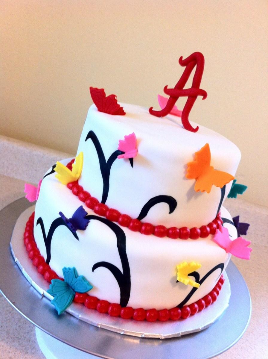 girly Alabama birthday cake