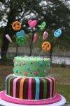 Groovy hippy chick birthday cake