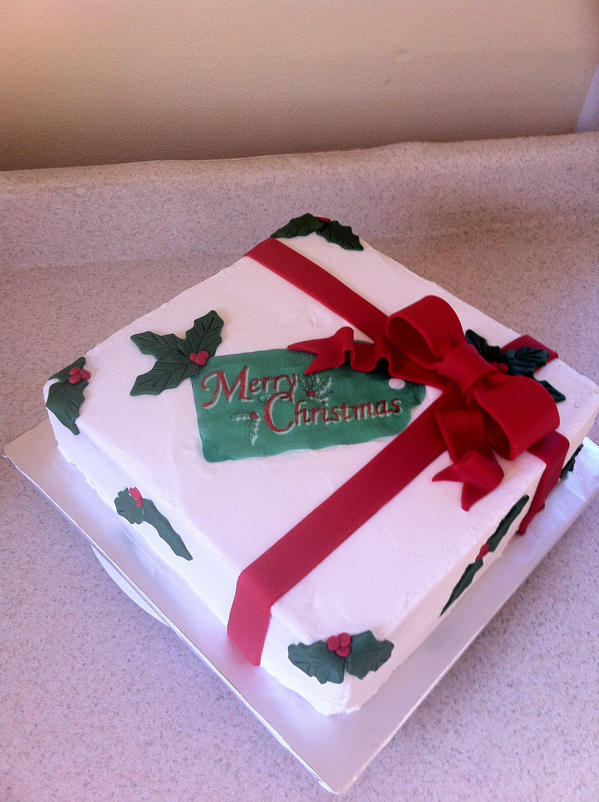 Christmas Cake Decoration Present : Groom Cake, Anniversary, Retirement, Graduation Etc ...