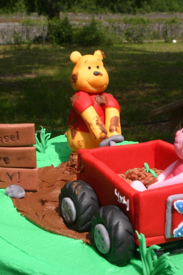 Gumpaste Winnie the Pooh baby shower cake