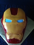 Ironman helmet birthday cake