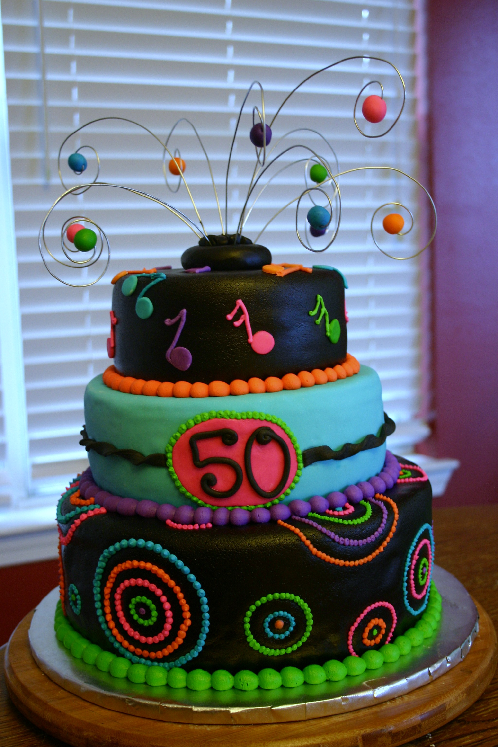 Neon 50th Birthday Cake Lolo S Cakes Amp Sweets