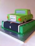 Neon green low rider truck grooms cake
