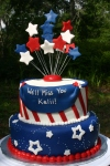 Patriotic going away cake