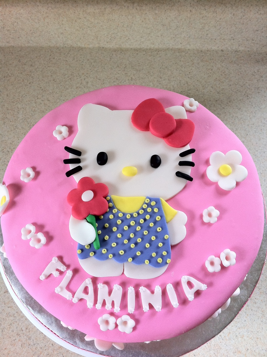Pink Hello Kitty birthday cake
