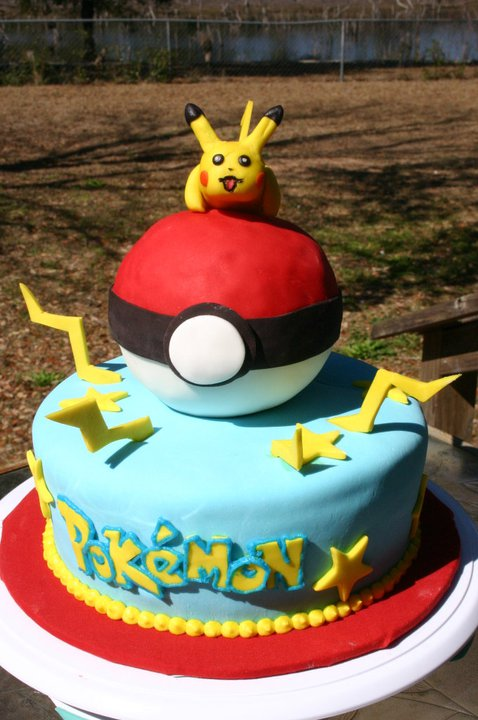pokemon pikachu birthday cake1 Pokemon Birthday Cake Designs
