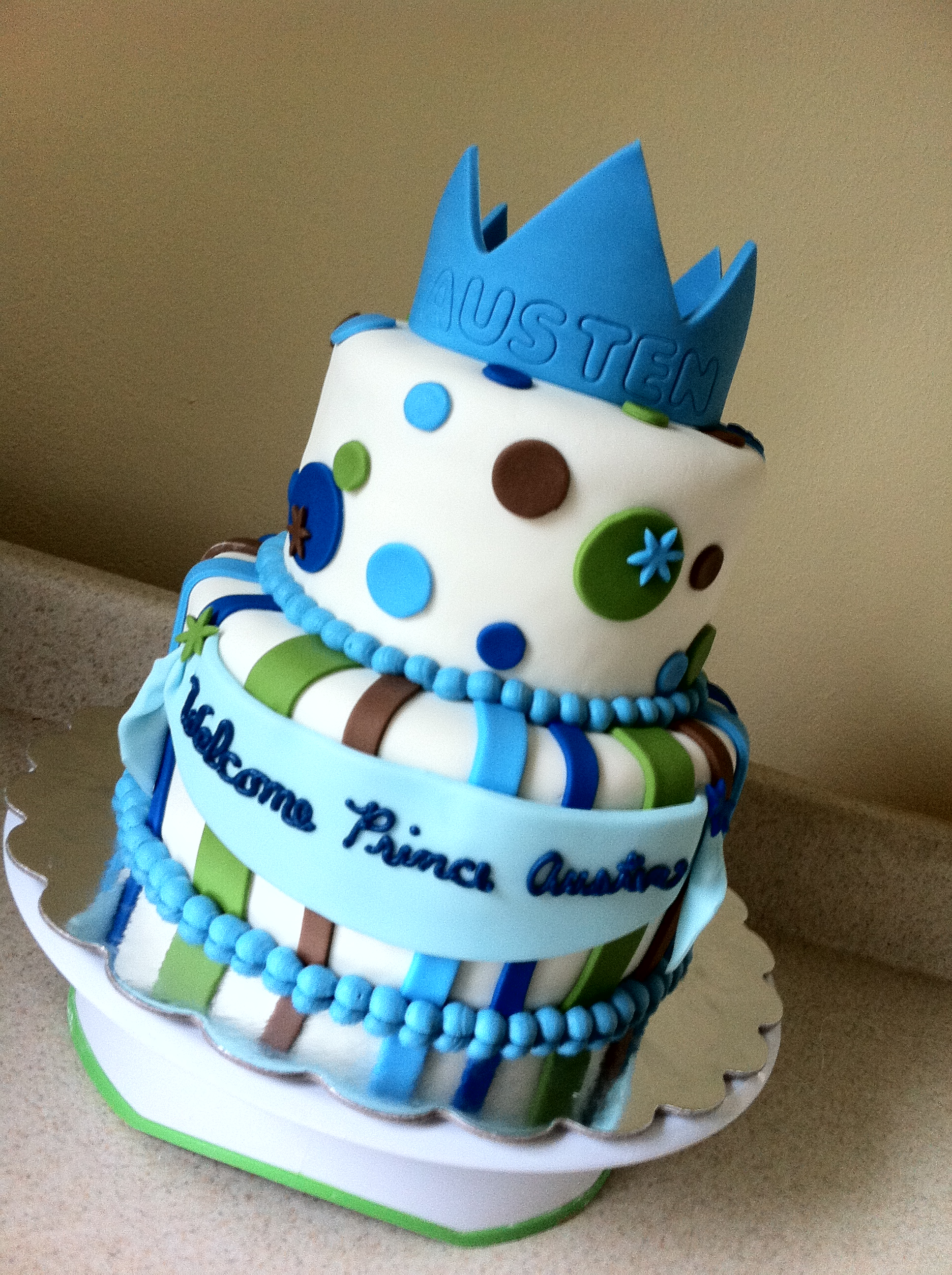 prince themed baby shower cake feeds 25 30 msrp 125