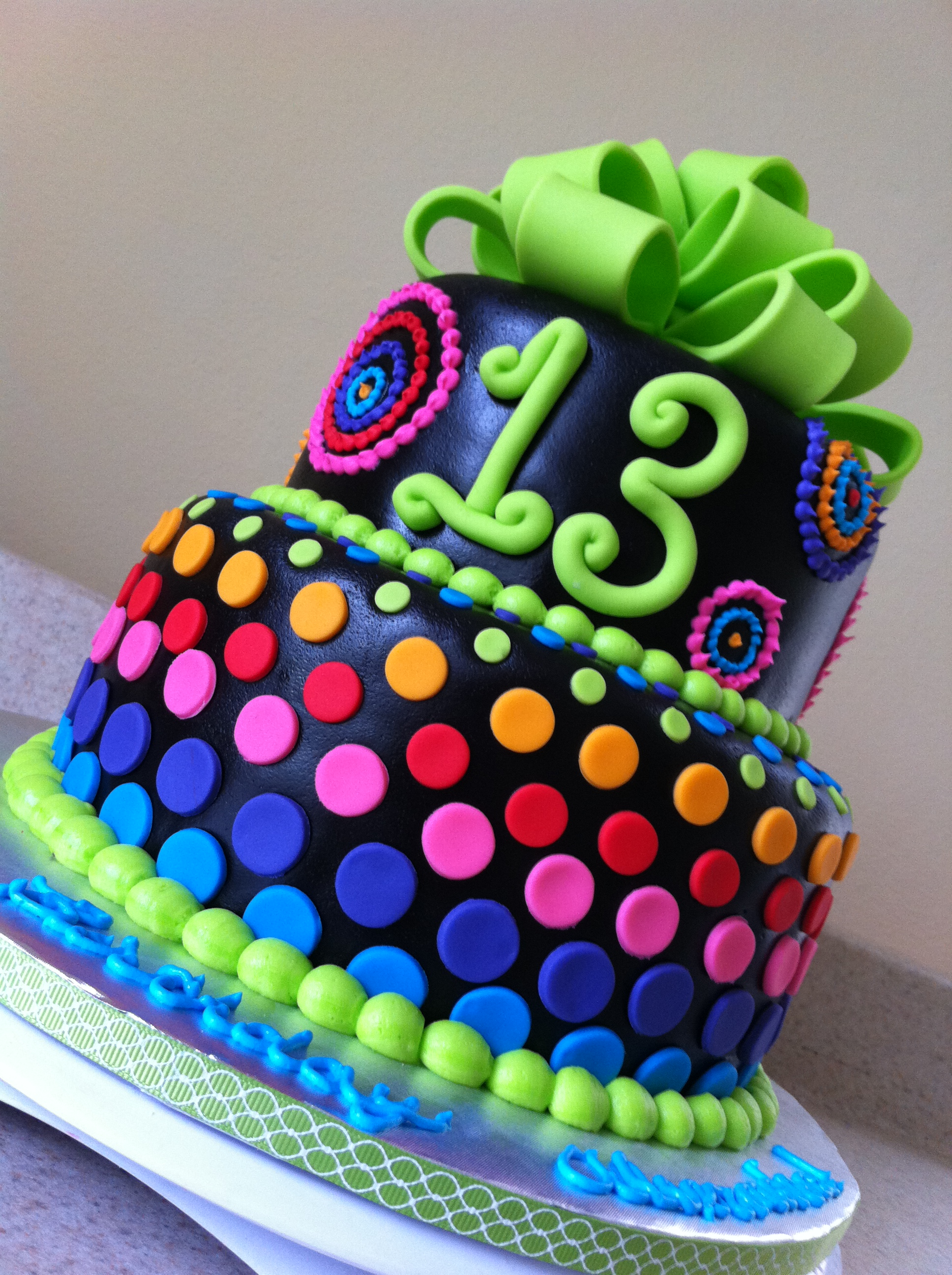 Birthday Cake Ideas Rainbow : Google Image Result for http://loloscakesandsweets.files ...