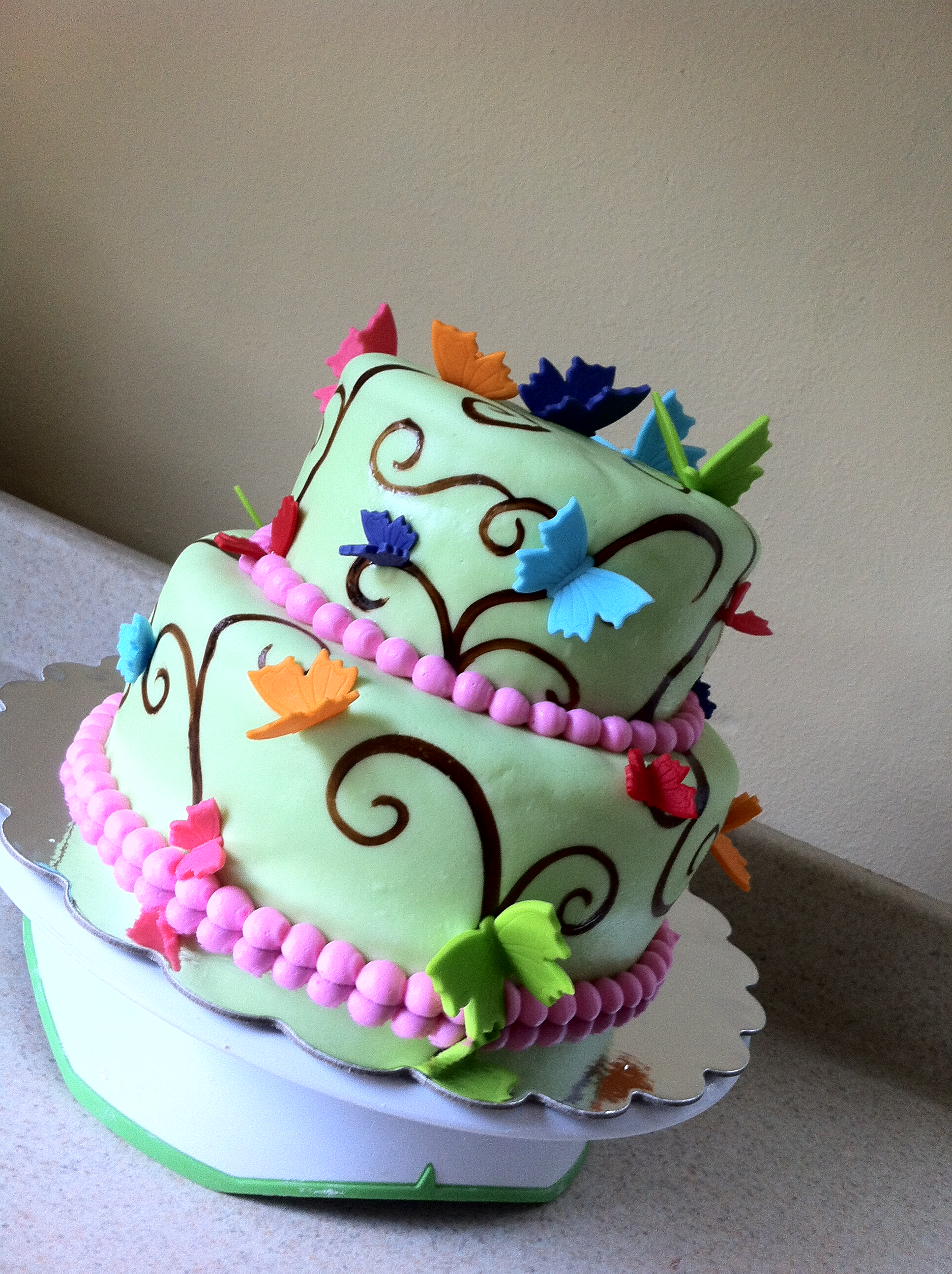 Rainbow butterfly birthday cake – Lolo's Cakes & Sweets