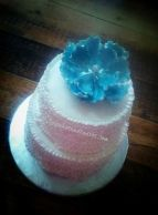 Buttercream ruffles and peony flower