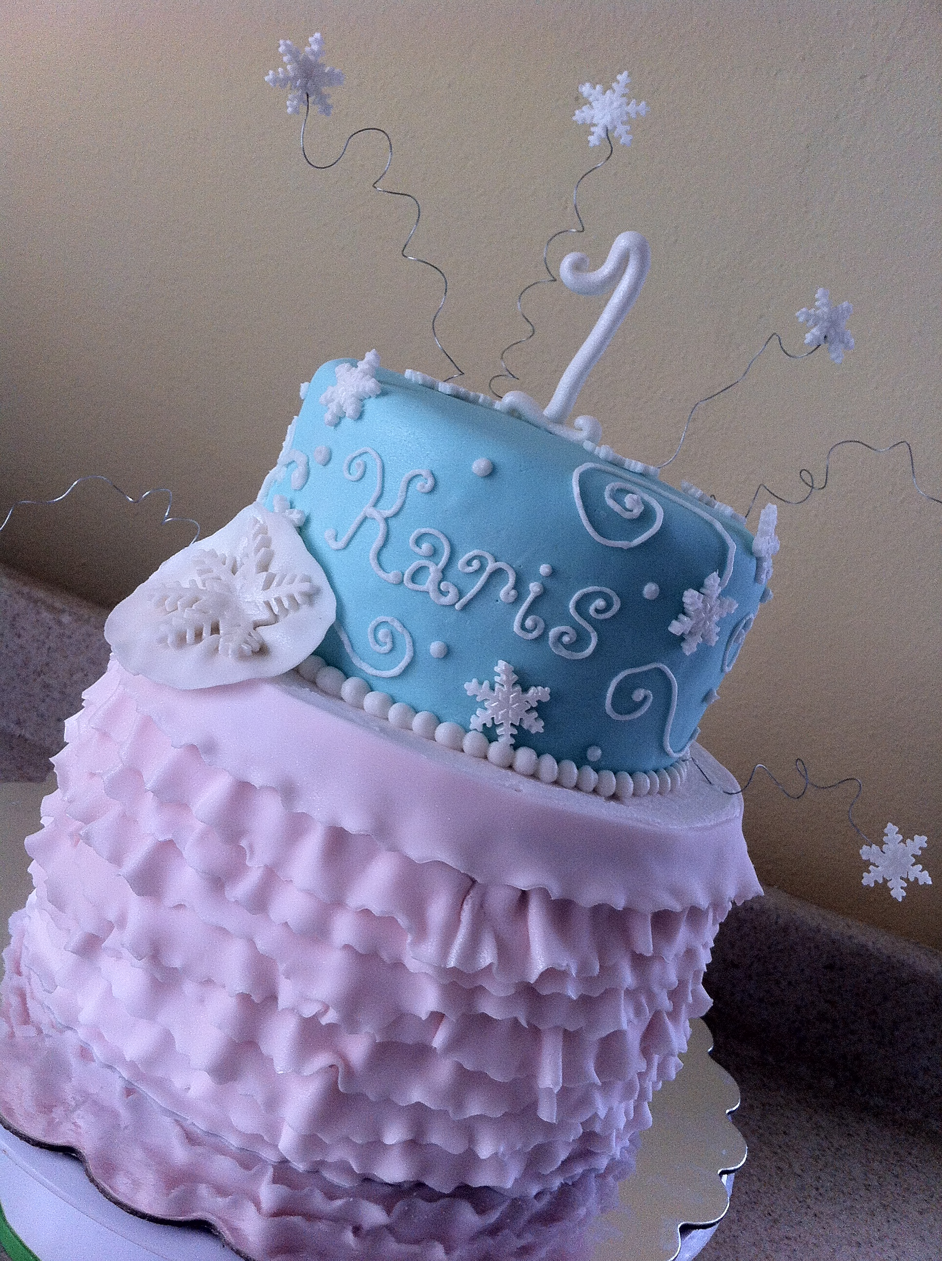 Sensational Snowflake Birthday Cake Lolos Cakes Sweets Funny Birthday Cards Online Alyptdamsfinfo