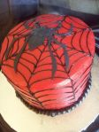 Spiderman web in buttercream with fondant spider. Feeds 20-25. MSRP $125
