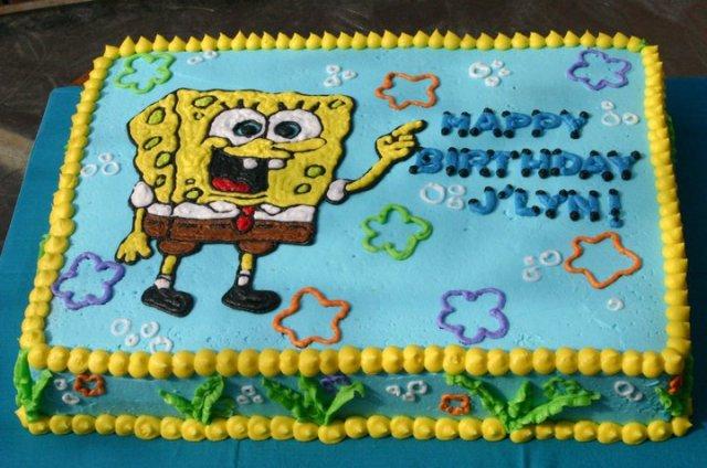 Brilliant Spongebob Seaweed Birthday Cake Lolos Cakes Sweets Funny Birthday Cards Online Alyptdamsfinfo