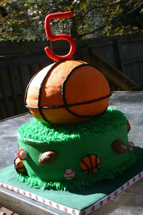 Sports Theme Sculpted Basketball Birthday Cake Lolos Cakes Sweets