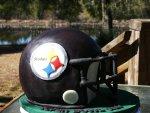 Steelers helmet Superbowl cake