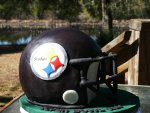 Steelers helmet Superbowl cake