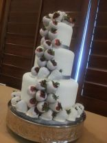 """Hailey"" Cascade of white chocolate covered strawberries."