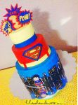 Superman buttercream cake