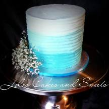 """Raine"" teal rustic ombre buttercream"