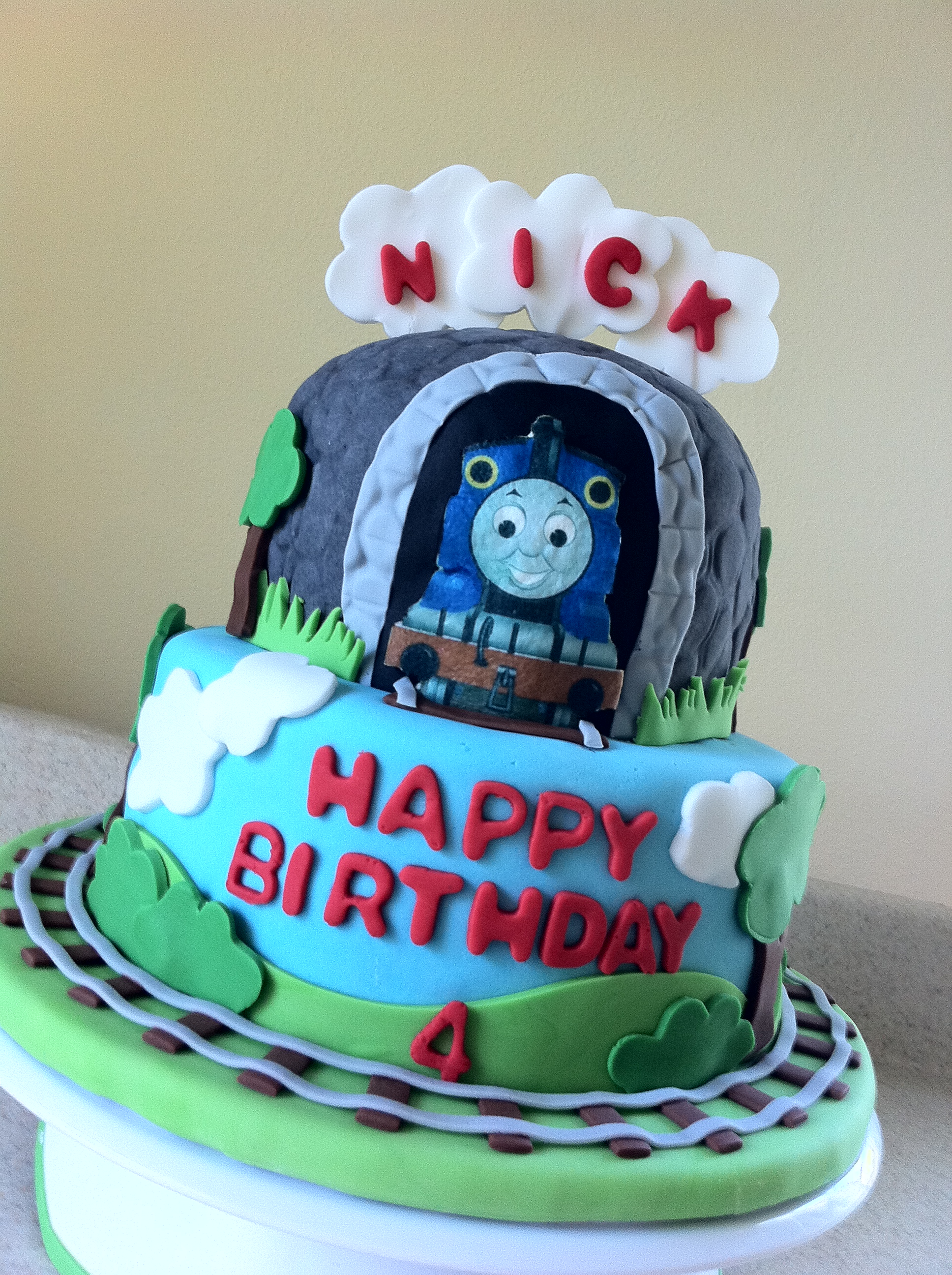 Swell Thomas The Train Birthday Cake Lolos Cakes Sweets Funny Birthday Cards Online Fluifree Goldxyz