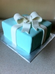 Tiffany blue gift grooms cake