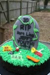 tombstone 30th birthday cake
