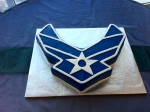 USAF chevron grooms cake