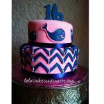 Sweet 16 whales and chevrons
