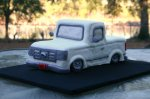 white Ford truck grooms cake