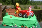 Winnie the Pooh and Piglet baby shower cake