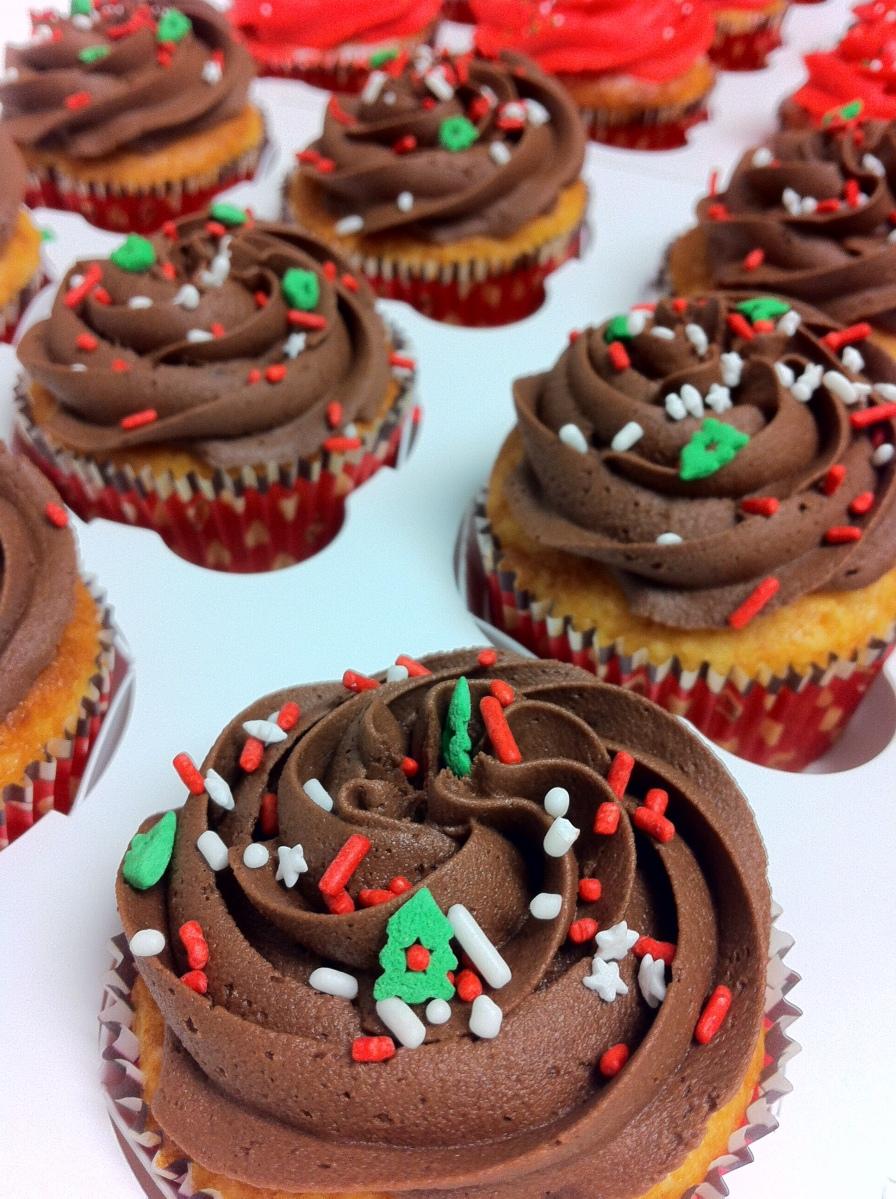 Christmas cupcakes Chocolate