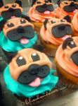 Pug pup cupcakes