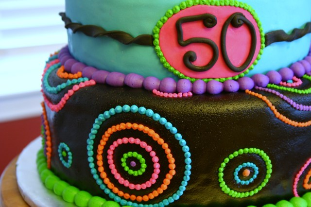 Kaleidiscope 50th birthday cake