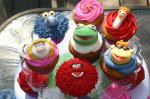Kermit Gonzo Miss Piggy Scooter Animal Beaker Muppet cupcakes