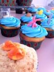 Ocean birthday cupcakes