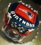 Patriots football birthday cake. Feeds 15-18. MSRP $75