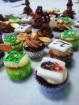 Handpainted computer chip, Golden Snitch, Goomba, PI symbol and D&D cupcakes