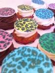 rainbow leopard print cupcakes
